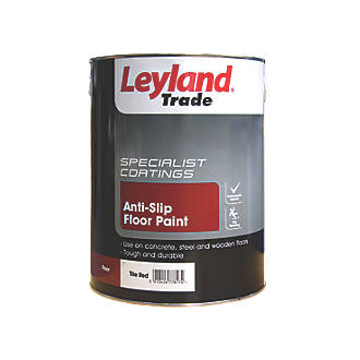Image of Leyland Trade Anti-Slip Floor Paint Tile Red 5Ltr