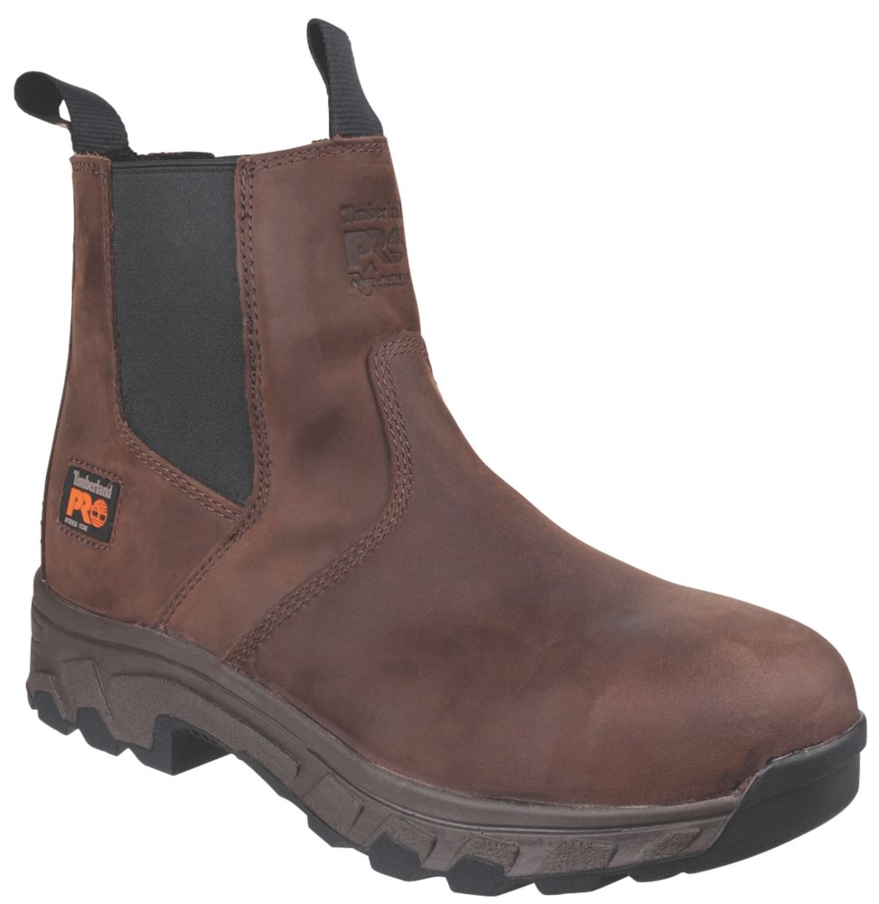 Image of Timberland Pro Dealer Safety Boots Brown Size 10