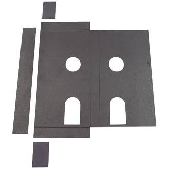 Image of Flexifire Universal Intumescent Din Lock Kit Black 85 x 0.8 x 165mm