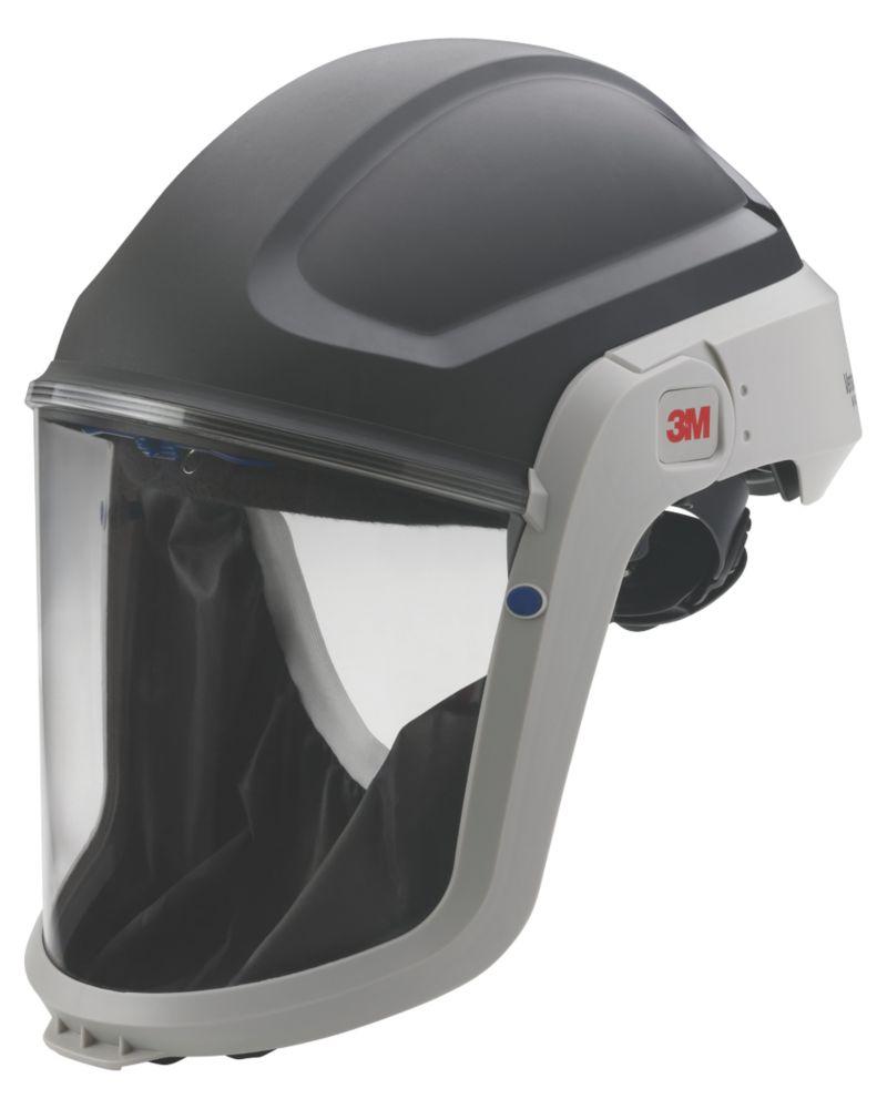 Image of 3M Helmet & Visor Black / Grey