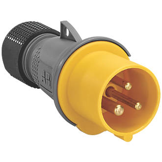 Image of ABB 16A Straight Plug 2P+E 110V Yellow