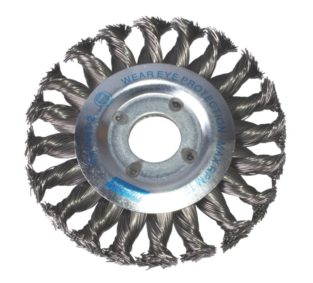 Image of Norton Expert Twist Knotted Wire Wheel Brush 115mm