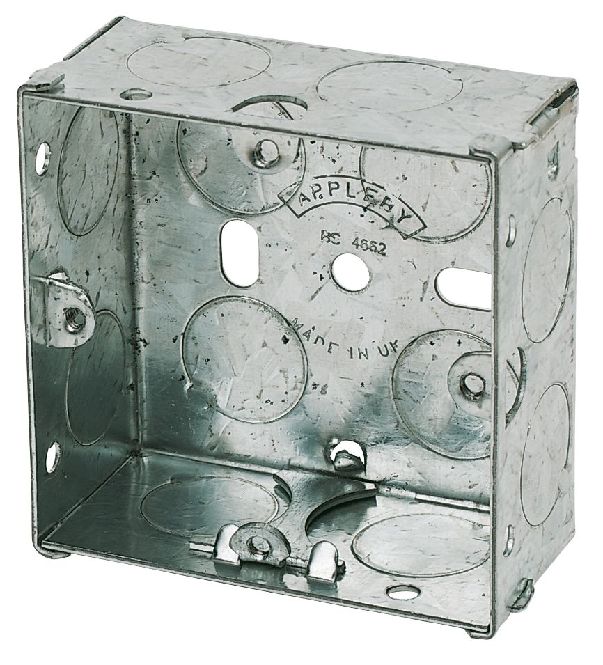 Image of Appleby Galvanised Steel Knockout Box 1G 25mm