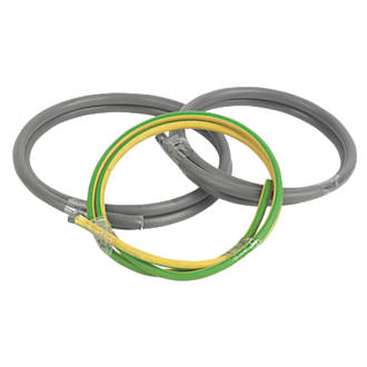 Image of Prysmian 6181Y & 6491X Grey & Green/Yellow 1-Core 16mm² Meter Tails Cable 1m Coil