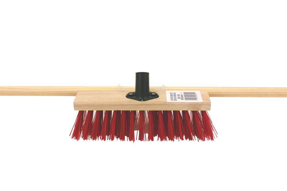 """Image of Bentley Stiff Broom with Wooden Handle 11"""""""