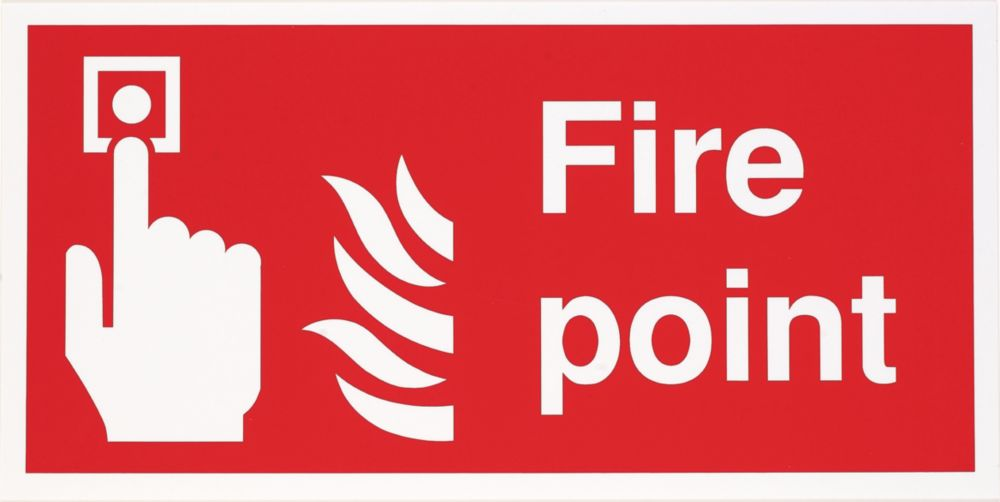 """Image of Fire Point"""" Sign 200 x 400mm"""