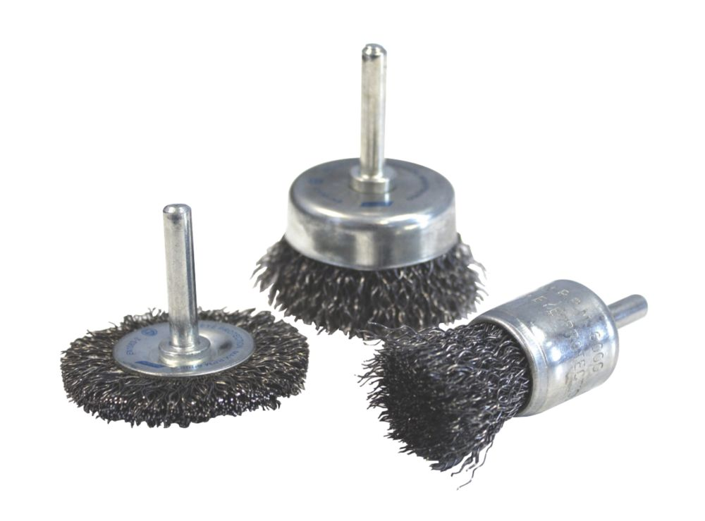 Image of Norton Expert Wire Brushes 3 Piece Set