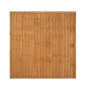 Image of Larchlap Closeboard Fence Panels 6 x 6' Pack of 3