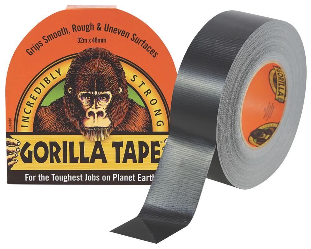 Image of Gorilla Glue Cloth Tape 48 Mesh Black 48mm x 32m