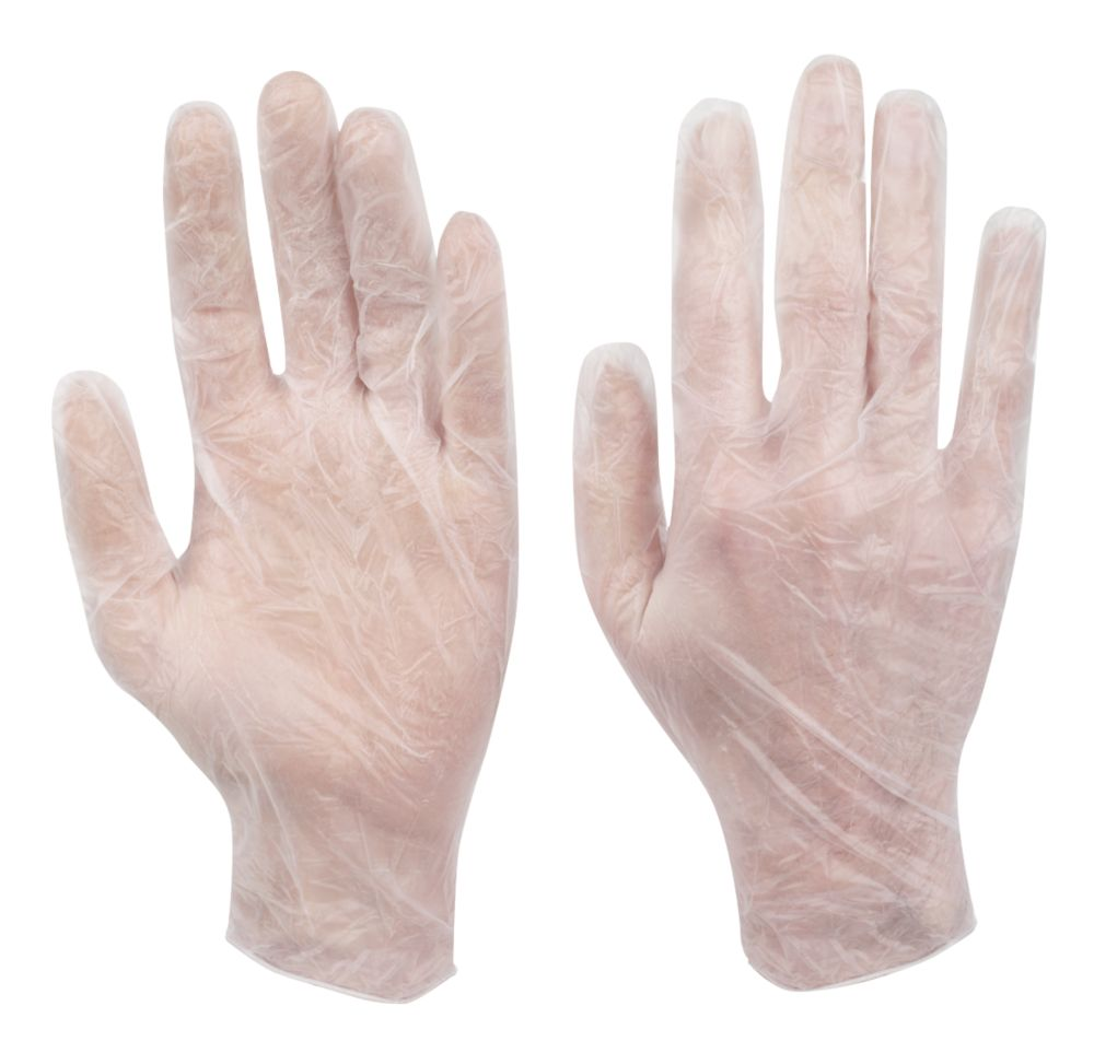 Image of Cleangrip Vinyl Powdered Disposable Gloves Clear X Large 100 Pack