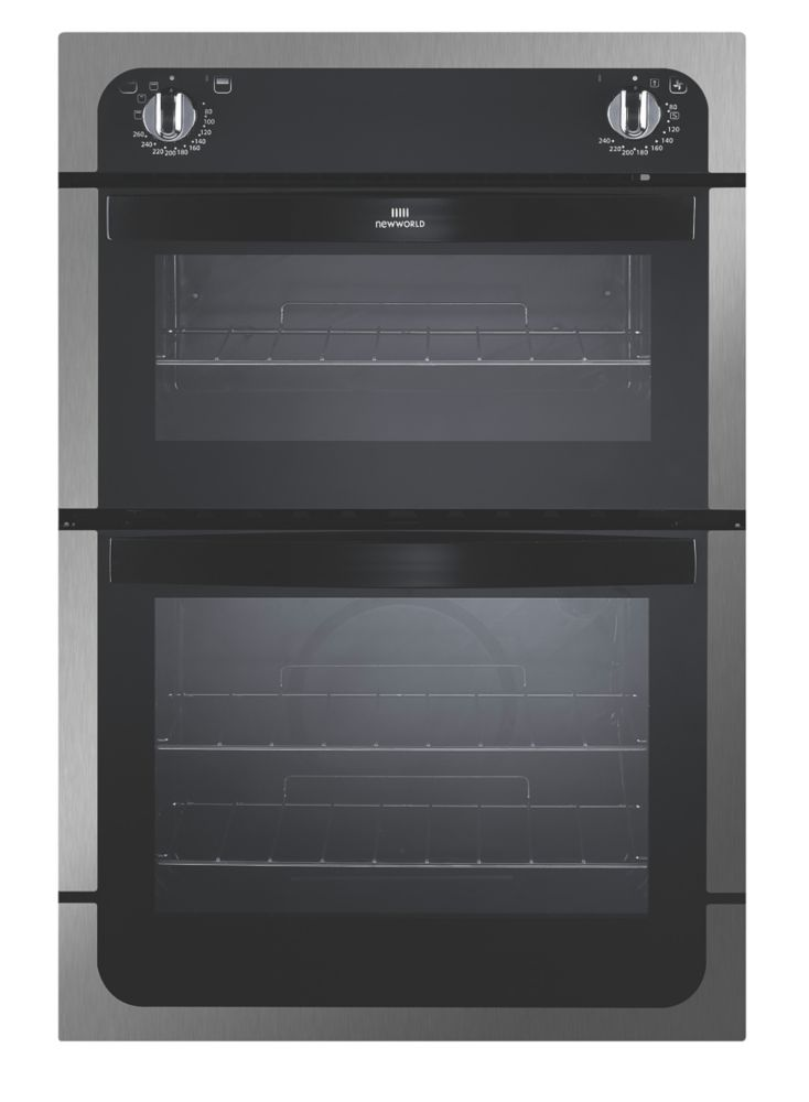 Image of New World Double Built-In Electric Oven Stainless Steel 885 x 595mm