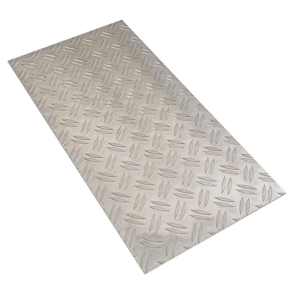 Image of Alfer Checkerplate Metal Sheet Aluminium 250 x 500mm