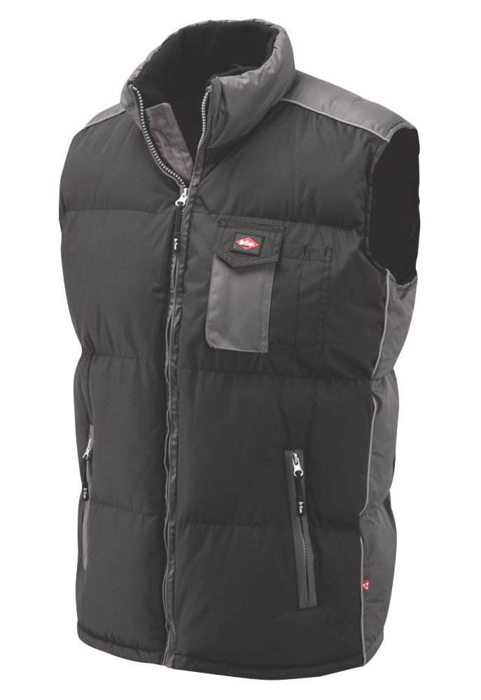 """Image of Lee Cooper Padded Body Warmer Black XX Large 51"""""""