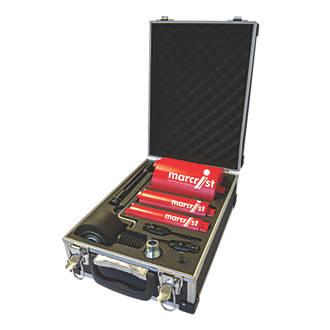 Image of Marcrist Core Drill Bit Set & Dust Extraction Unit 9 Piece Set