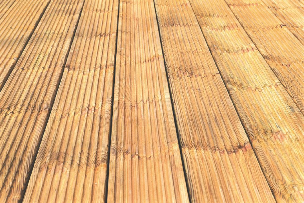 Image of Forest Patio Decking 0.12 x 2.4 x 0.028m 10 Pack