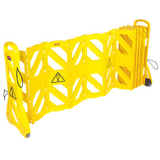 Image of Rubbermaid Mobile Barricade System Yellow