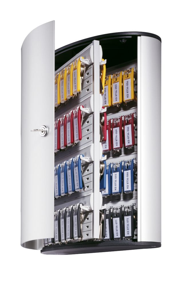 Image of Durable 72-Hook Key Cabinet