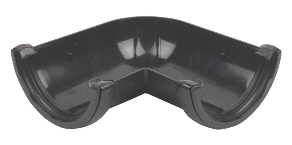 Image of FloPlast 90 Angle 112mm Black