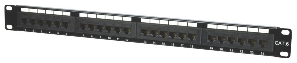 """Image of Philex 1U 19"""" UTP Cat 6 24-Port Patch Panel"""