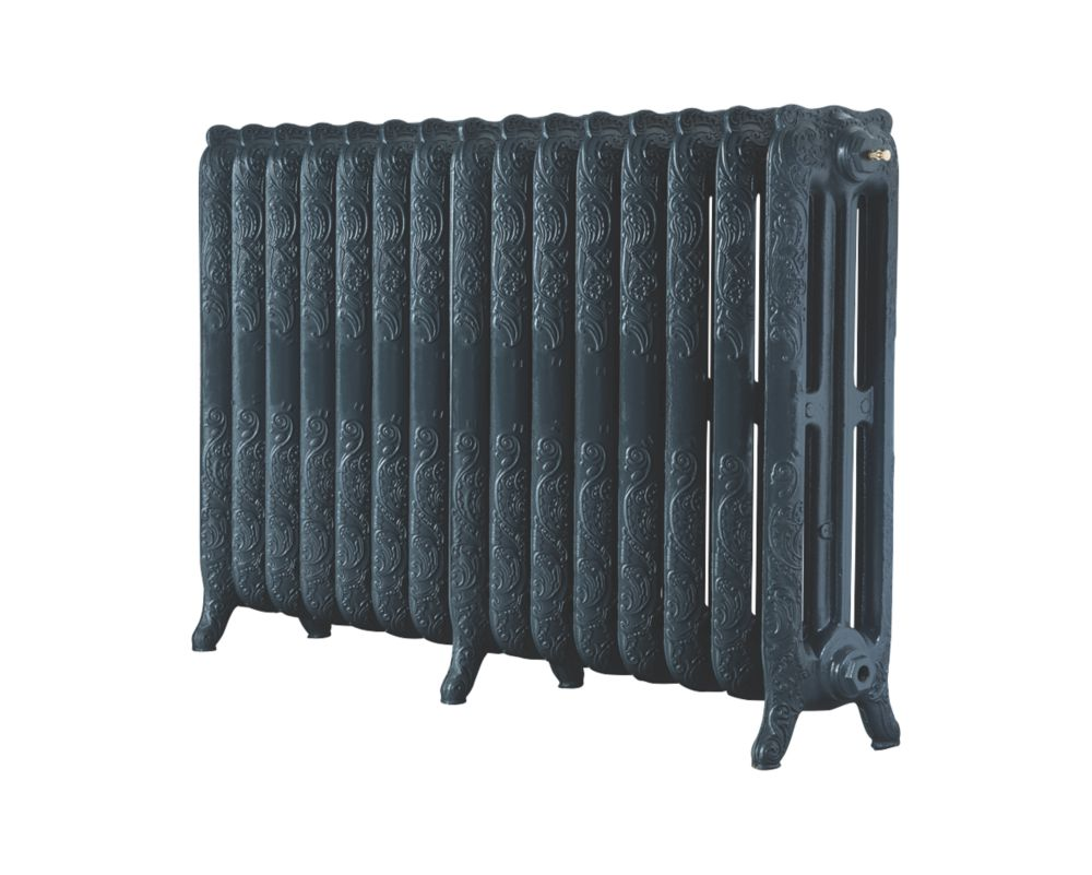 Image of Arroll 3-Column Cast Iron Radiator 760 x 1234mm Anthracite