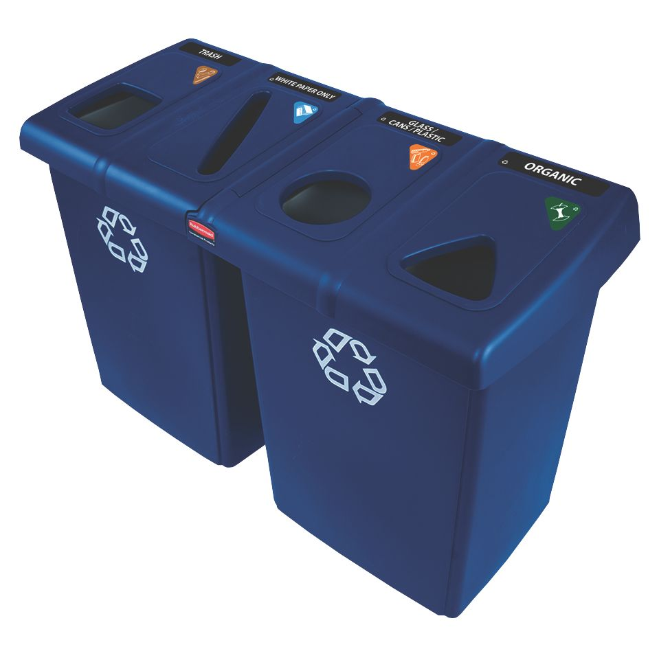 Image of Rubbermaid Glutton Recycling Centre 348Ltr