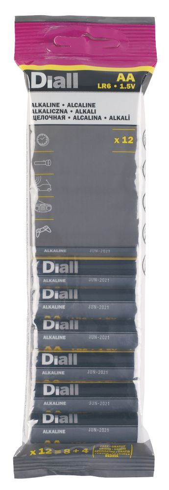 Image of Alkaline AA Batteries 12 Pack