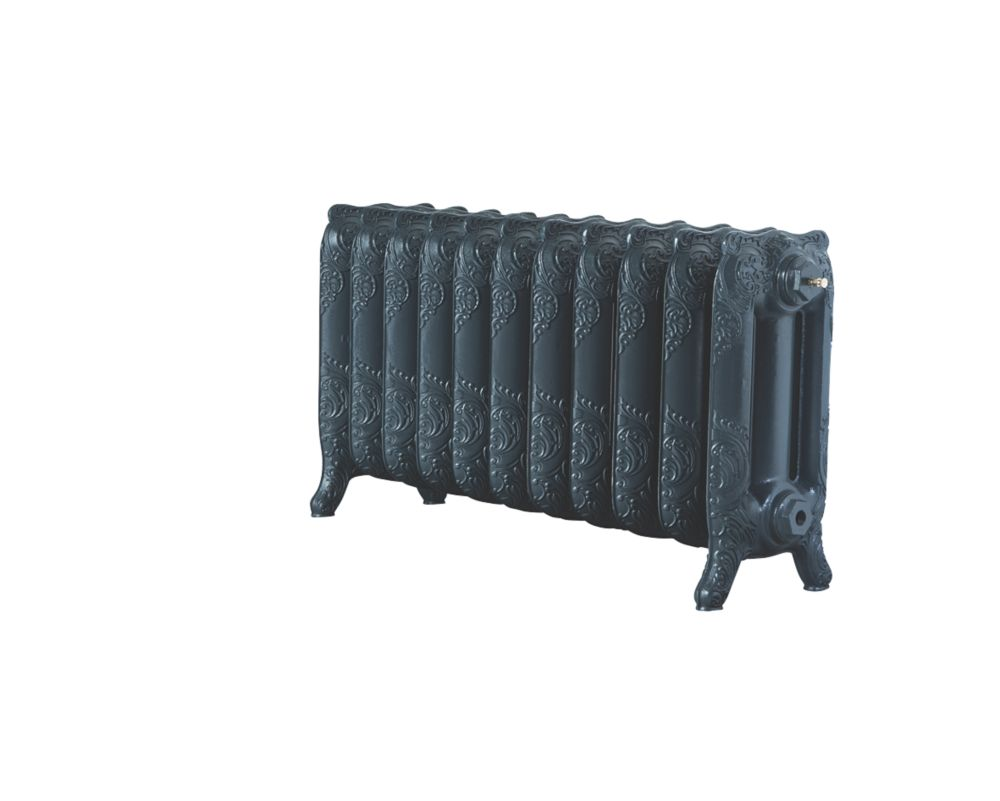 Image of Arroll Montmartre 3-Column Cast Iron Radiator Anthracite 470 x 914mm