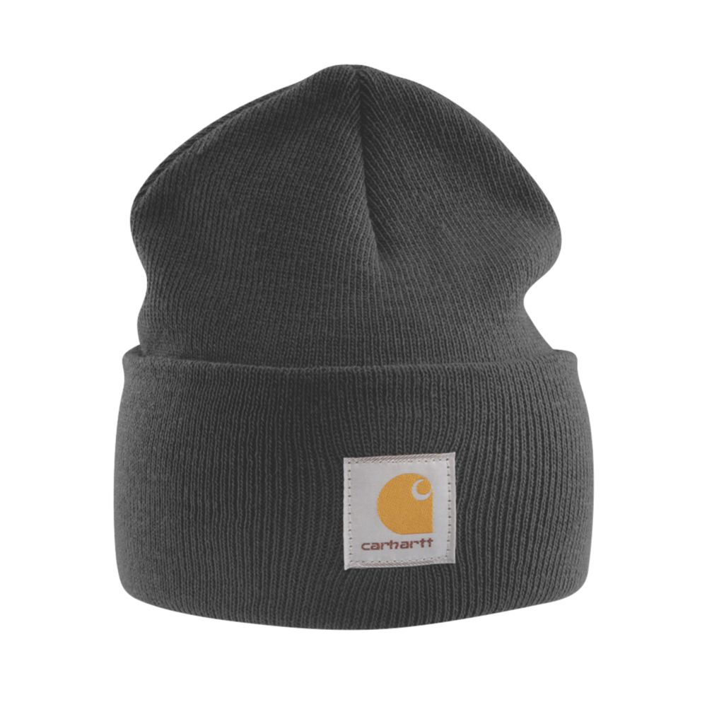 Image of Carhartt A18 Beanie Hat Black