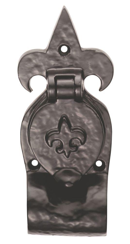 Image of Carlisle Brass Antique Black Fleur-de-Lys Rim Cylinder Pull 63mm