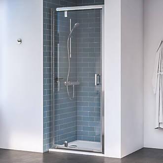 Image of Aqualux Edge 8 Pivot Shower Door Polished Silver 760 x 2000mm