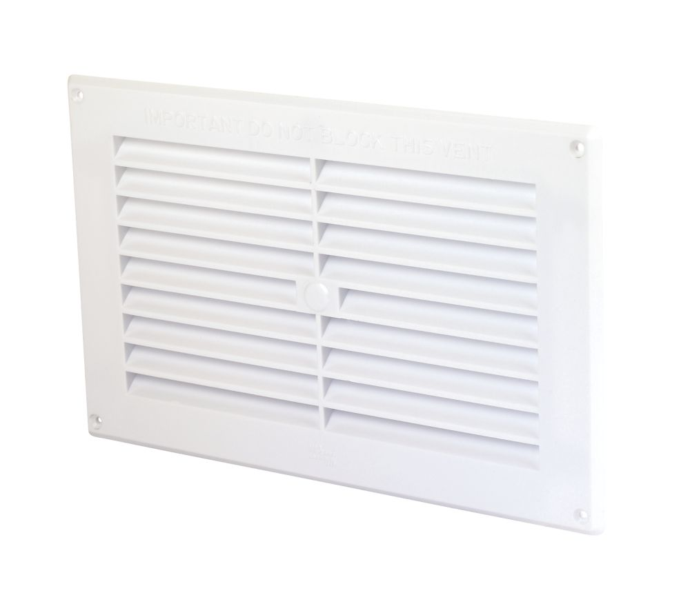 Image of Map Vent Fixed Louvre Vent White 229 x 152mm