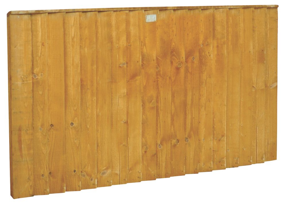 Image of Forest Feather Edge Fence Panels 1.82 x 0.9m 5 Pack