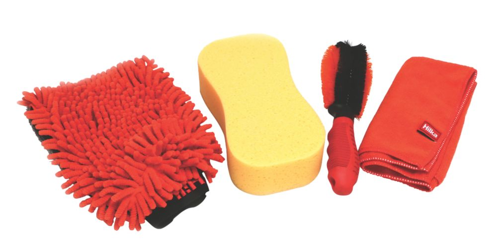 Image of Hilka Pro-Craft Car Cleaning Washing Set 4 Piece Set