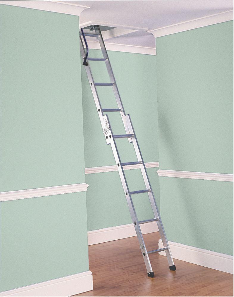 Image of Lyte 2-Section Aluminium Deluxe Loft Ladder 2.67m