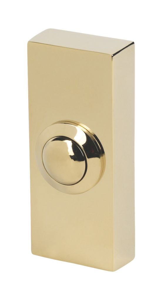 Image of Byron 2204 Wired Doorbell Bell Push Brass