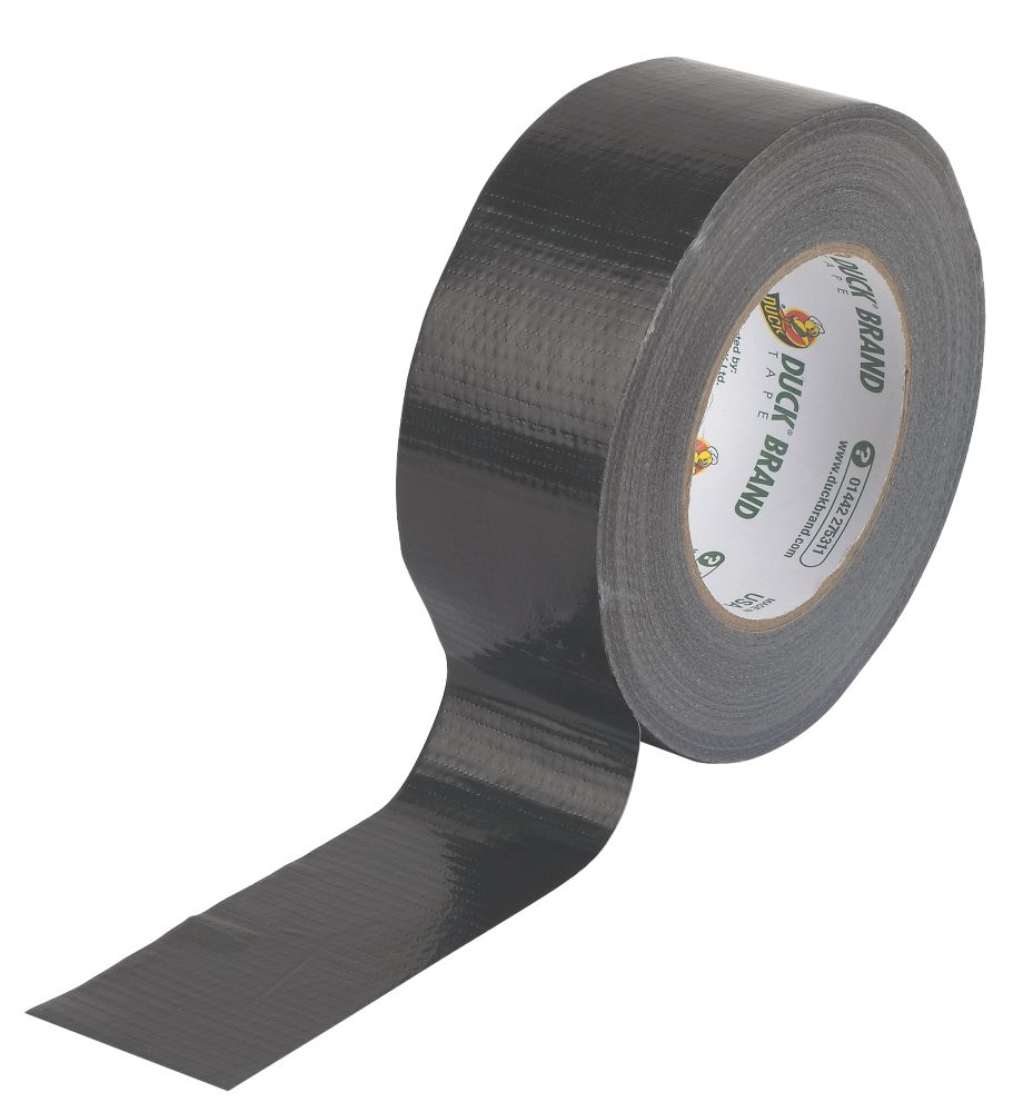 Image of Duck Original Cloth Tape 50 Mesh Black 50mm x 50m