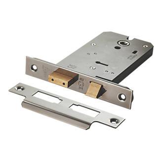 Image of Eurospec 3 Lever Satin Stainless Steel Easi-T Horizontal Sashlock 127mm Case - 102mm Backset