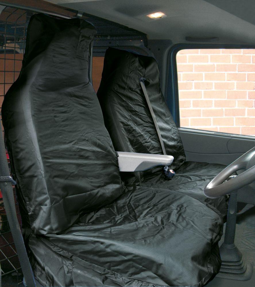 Image of Streetwize Heavy Duty Van Seat Covers Black 2 Pcs