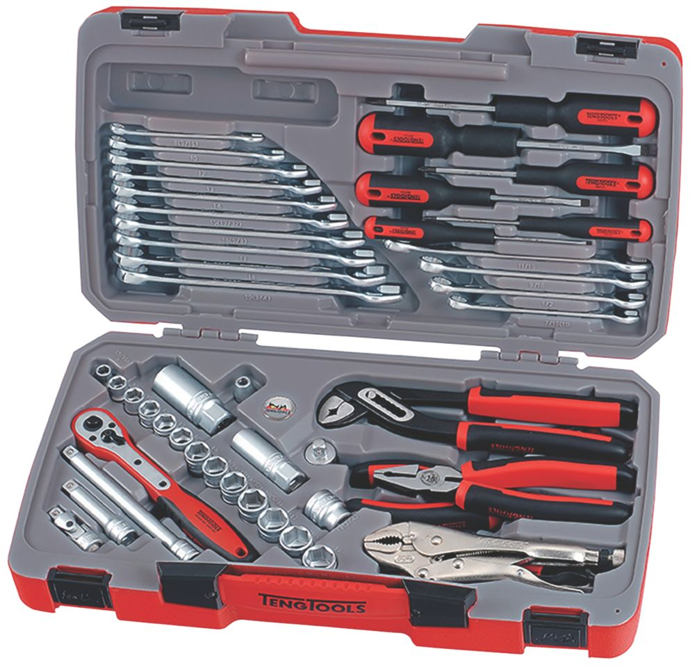 """Image of Teng Tools 3/8"""" Drive Socket & Tool Set 48 Pieces"""