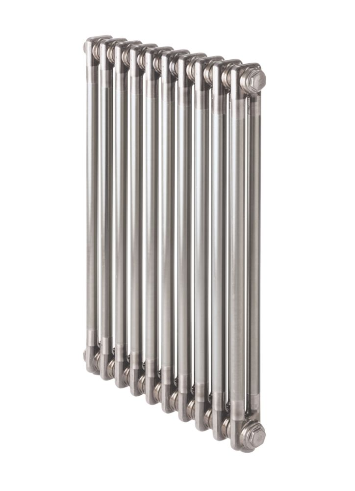 Image of Acova 2-Column Horizontal Designer Column Radiator 600 x 628mm Raw Metal