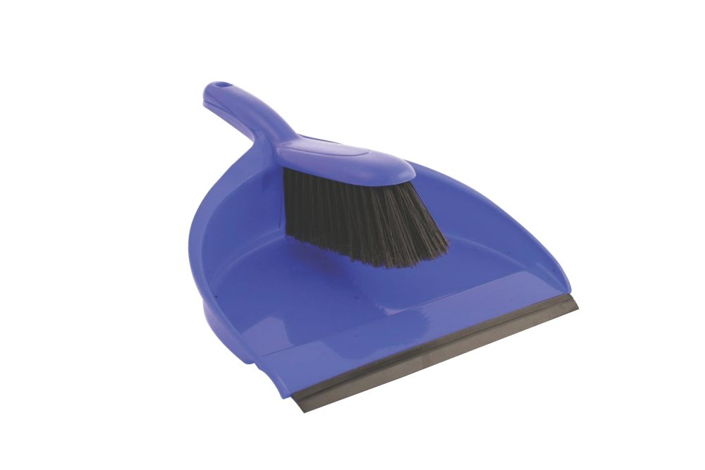Image of Bentley Dustpan & Brush Soft Blue 5 Pack
