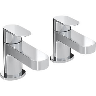 Image of Bristan Frenzy Basin Pillar Taps 2 Pack