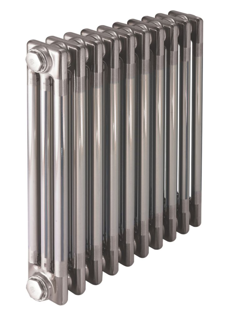 Image of Acova 3-Column Horizontal Designer Radiator Lacquered Raw Metal 600 x 1042mm 4571Btu