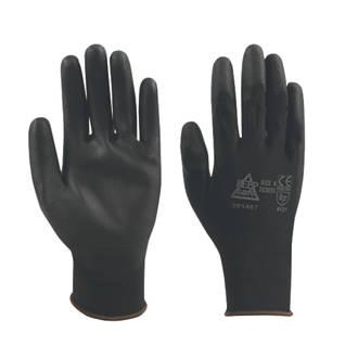 Image of Keep Safe PU Palm Gloves Black Medium