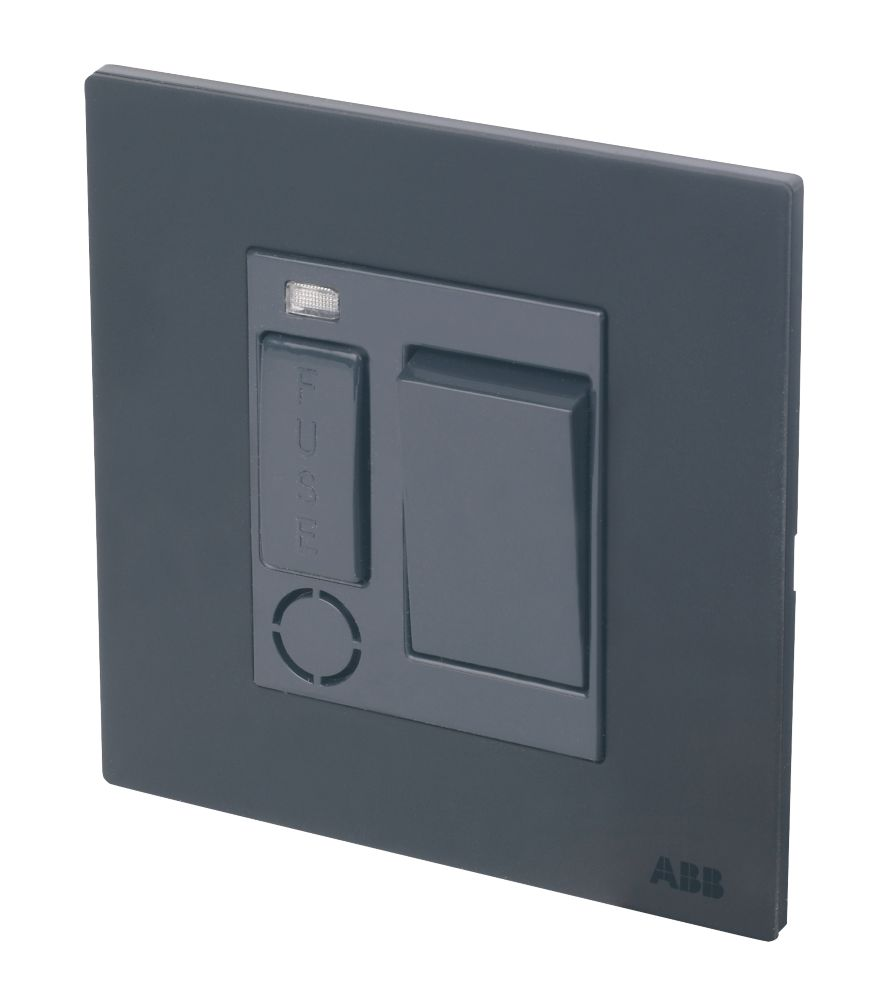 Image of ABB 13A Switched 1G Fused Connection Unit w/ LED Silk Black