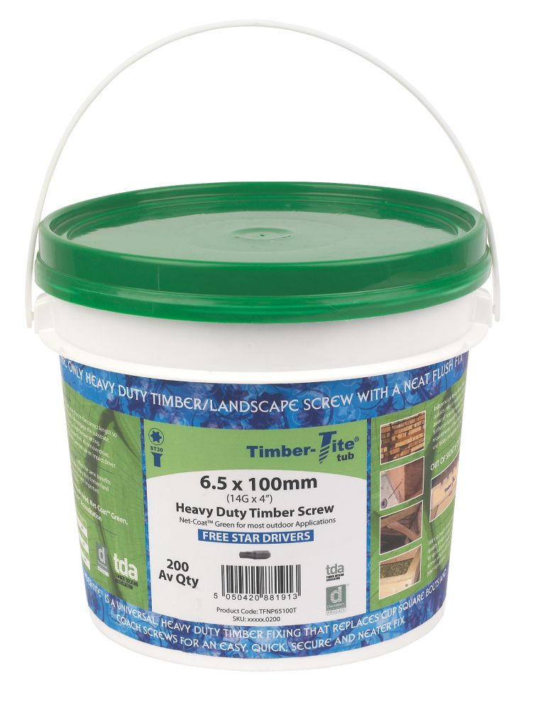 Image of Timber-Tite Bucket 6.5 x 100mm Pack of 200