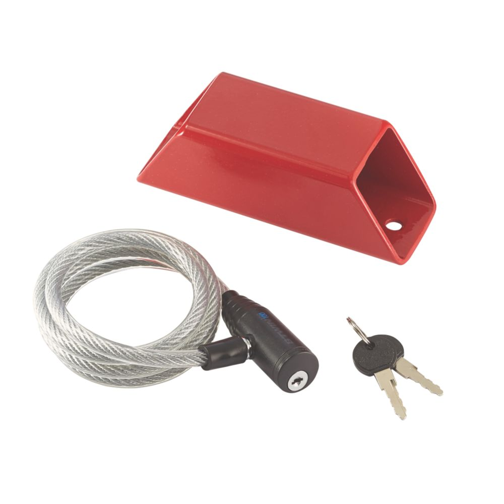 Image of Mottez Wall Lock Anchor Red One Size 50mm