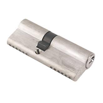 Yale 6-Pin Euro Cylinder Lock BS 40-50 (90mm) Satin Nickel | 6 Pin ...