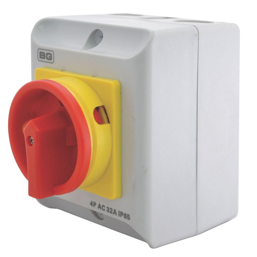 Image of BG 4-Pole Rotary Isolator Switch 32A 230/400V