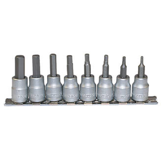 "Image of Teng Tools 3/8"" Drive Hex Bit Socket Clip Rail Set 8 Pieces"